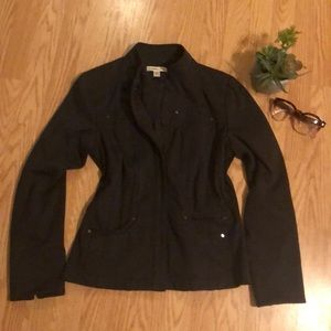 Dark Gray Military Style Jacket